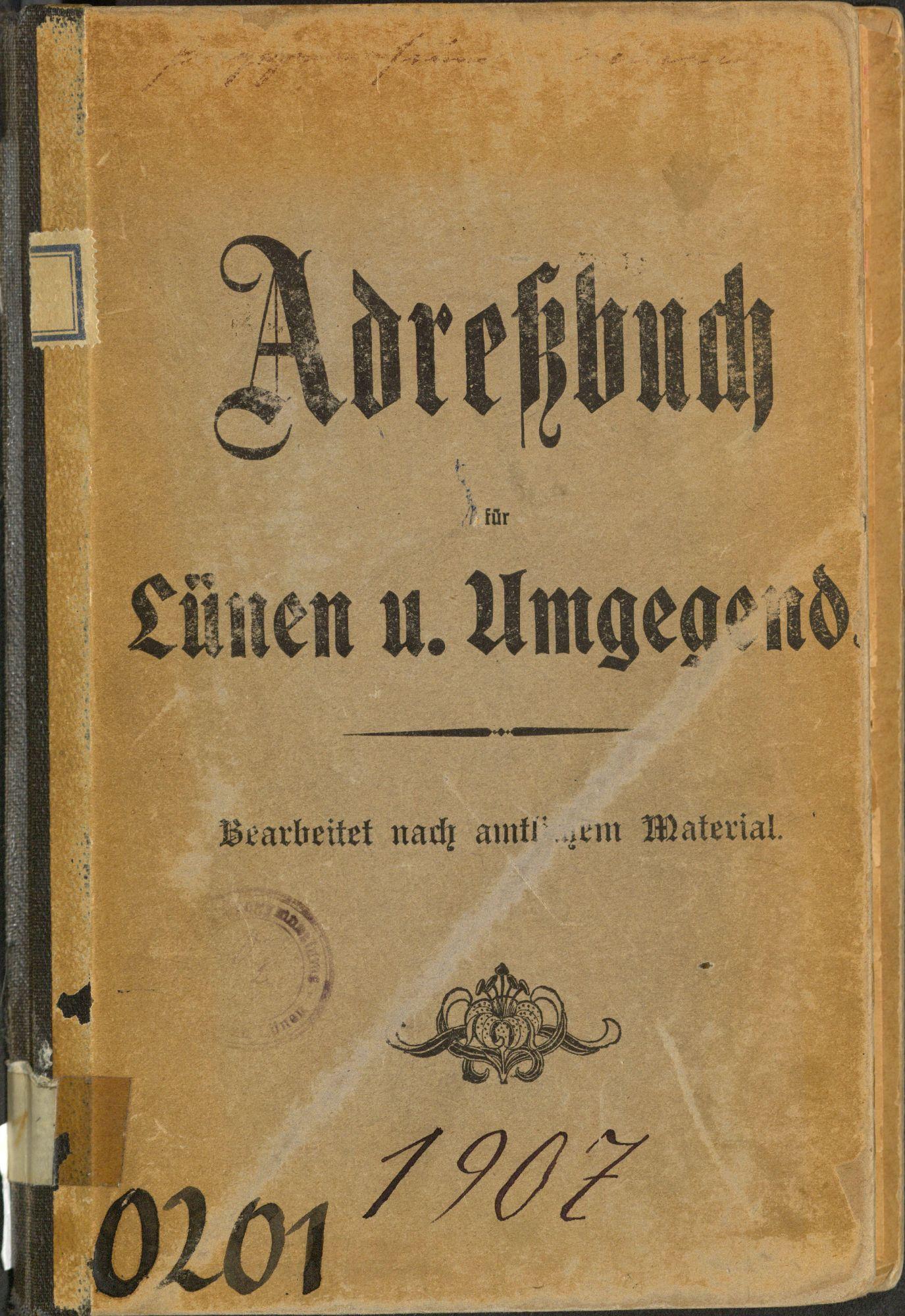Adreßbuch für Lünen u. Umgegend 1907