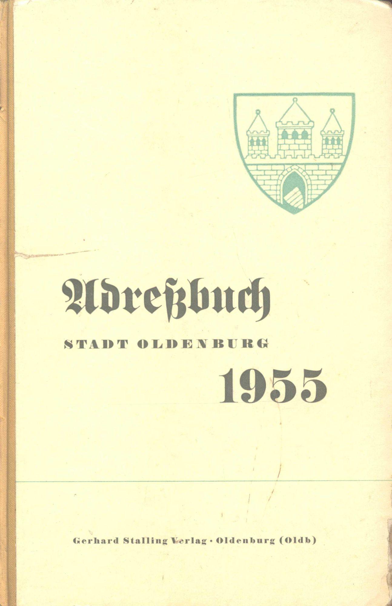 Adressbuch Oldenburg 1955
