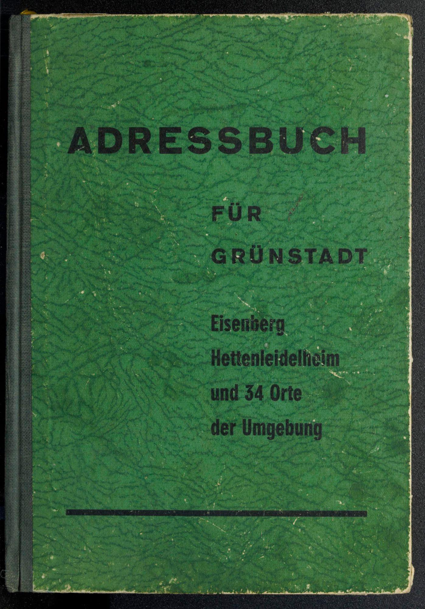 Adressbuch Grünstadt (Rheinland-Pfalz) 1955
