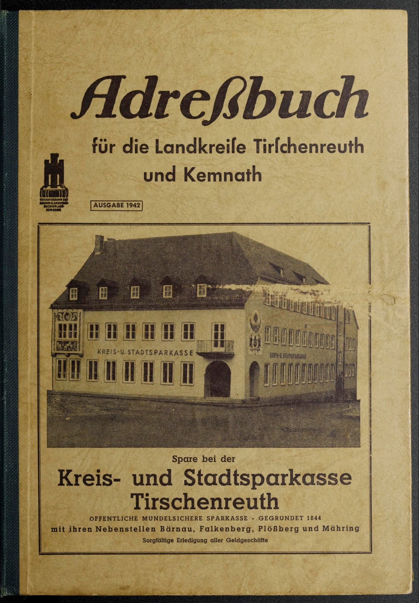 Adreßbuch für die Landkreise Tirschenreuth und Kemnath 1942